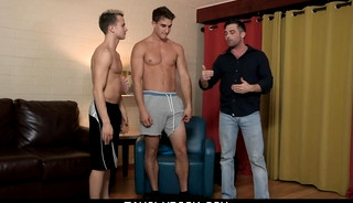 FLEX FOR YOUR OLDMAN Part 2. Logan Cross, Lance Hart and Zane