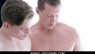 Blonde Little Twink Stepson Threesome With Stepdad And Stepbrother