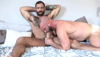 Two Hairy Bearded Dudes Having Hot Fun