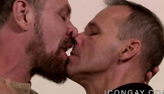 Mature gays Rodney Steele and Max Sargent passionately fuck