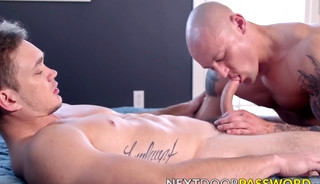 Muscular gays Trevor Laster and Jackson Traynor raw fuck